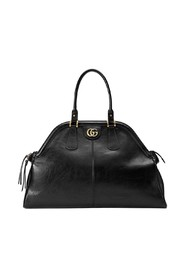 Leather RE(BELLE) Large Top Handle Tote