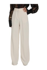 PALAZZO PANTS WITH ZIP AND BUTTON