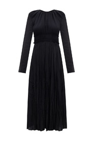 Pleated dress with long sleeves