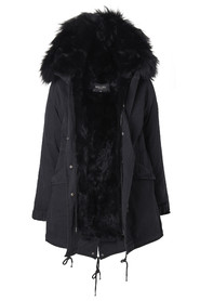 HOLLIES Verona Parka Black