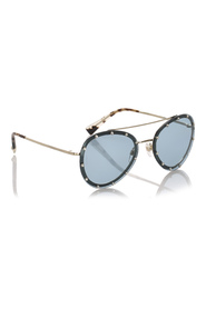 Crystal Embelished Aviator Sunglasses
