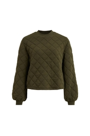 OBJMONI L/S Quilted Sweat Pullover