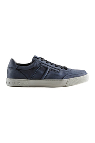 Embossed logo leather sneakers
