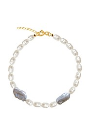 Pearl & Silver Drops Anklet