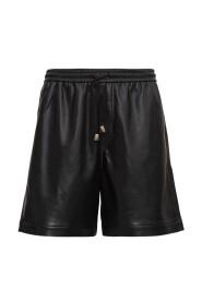 Doxxi Vegan Leather Bermuda Shorts
