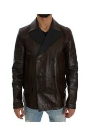 Double Breasted Leather Jacket