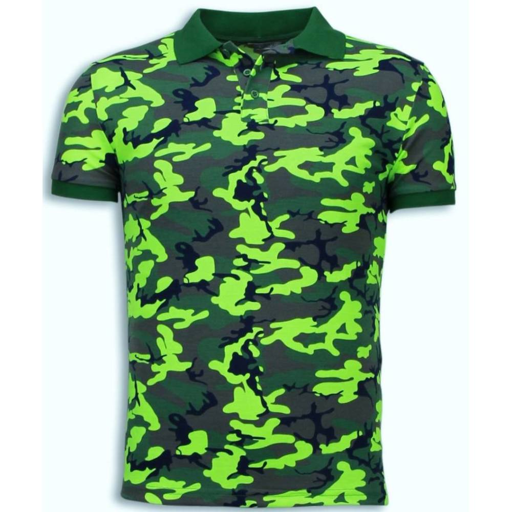 Neon Camouflage Polo Shirt