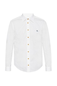 Logo-embroidered shirt
