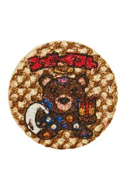 Badge with Bear Embroidery