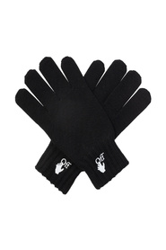 Wool gloves with logo