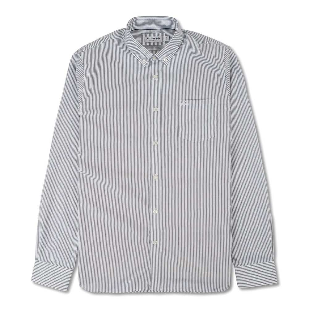 Mäns Regular Fit Striped Poplin Shirt