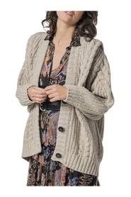 OVER CARDIGAN WITH BRAIDS