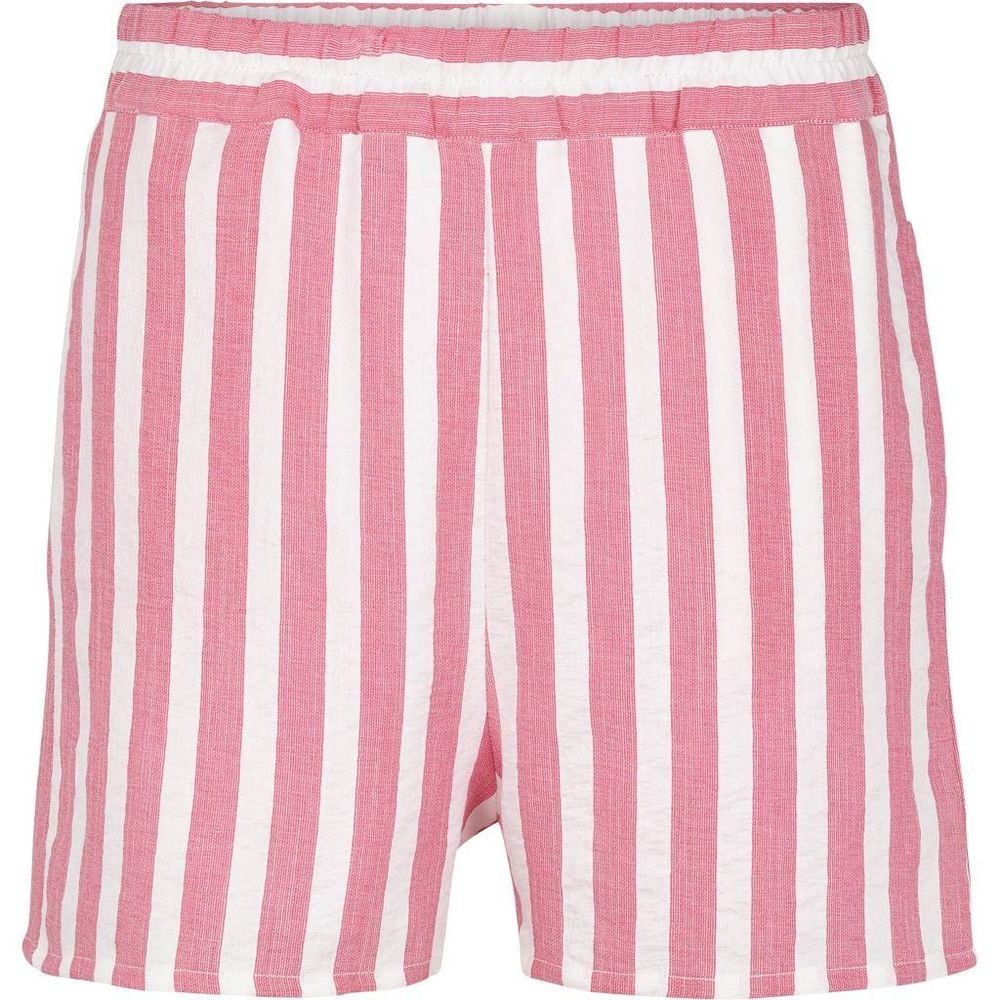 Rosa/offwhite stripet stripet Basic Apparel Vacation shorts