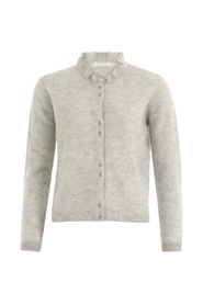 Knitted cardigan w. neck detail