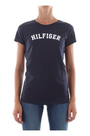TOMMY HILFIGER UW0UW00091 TEE PRINT T SHIRT AND TANK LONGWEAR Women blue