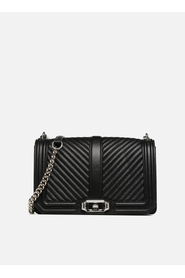 Chevron quilted love crossbody bag