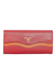 Pre-owned Saffiano Leather Long Wallet