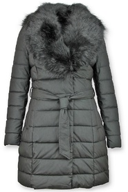 Long Parka Winter Coat With Faux Fur Collar