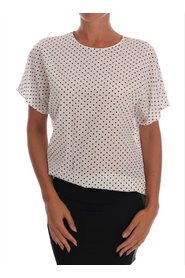 Polka Dotted Silk Top