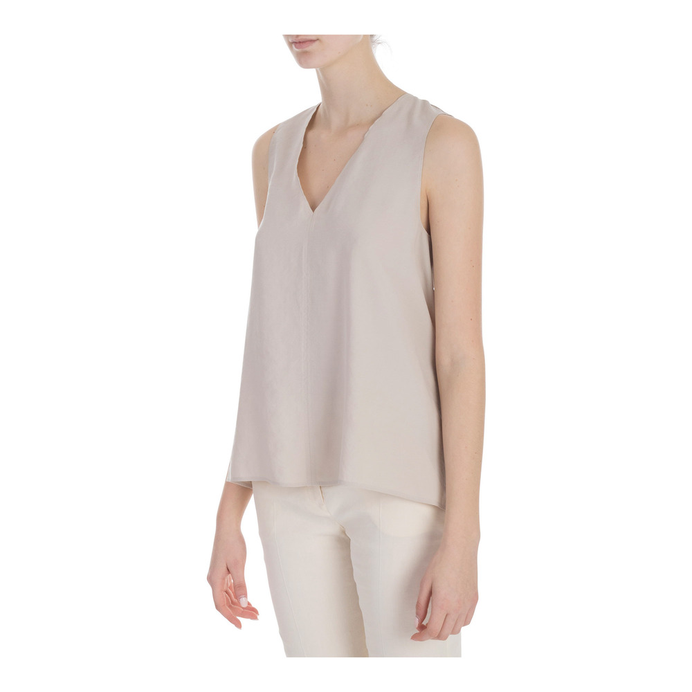 Alysi STONE TOP CUPRO EFFECT V-NECK Alysi