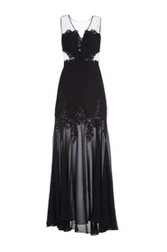 Juliane Mesh Yoke Gown