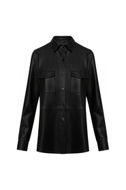 Leather Shirt w/ buttons