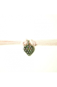 Uriel silver heart charm with multi sapphire