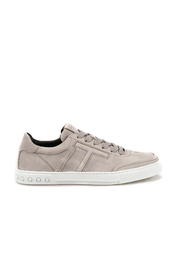 Nubuck sneakers with padded T