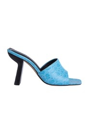 Liliana Circular Croco Embossed Leather Shoes