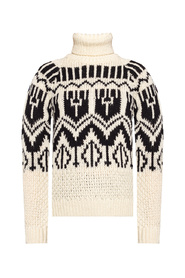 Knitted turtleneck sweater with logo