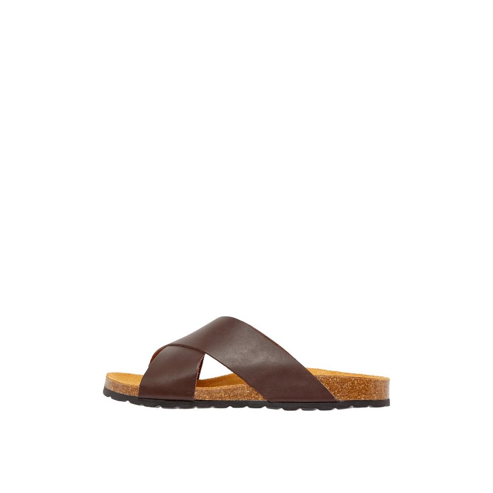 Sandals Cross-strap Leather