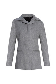Wool blazer with cut-out details