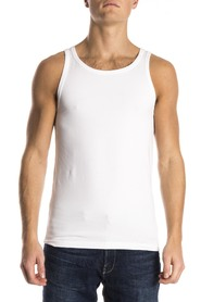 Alan Red Oakland Sleeveless Shirt White