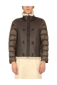 SHEARLING LINED DOWN JACKET