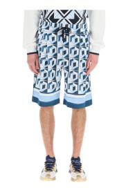 Shorts mit Majolika-Print