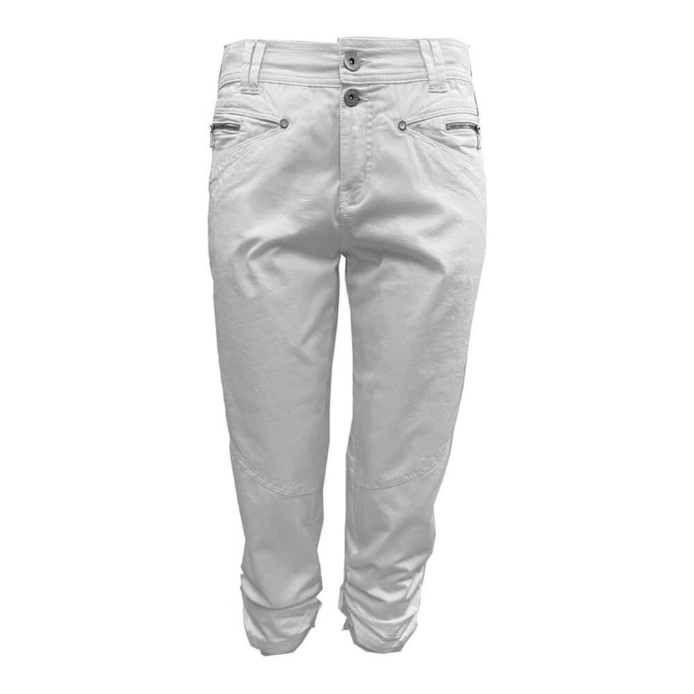 White Haber Pants  2-Biz  Spodnie materiałowe dopasowane  Showroom.pl ZBrXi