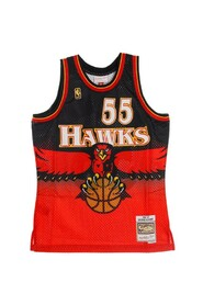 CANOTTA BASKET NBA SWINGMAN JERSEY HARDWOOD CLASSICS NO55 DIKEMBE MUTOMBO 1996-97 ATLHAW ROAD