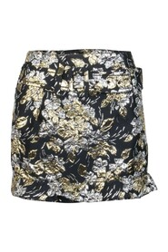 Gold and Silver Floral Skirt