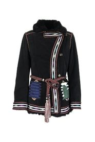 MORGAN SHEEPSKIN JACKET WITH EMBROIDERY