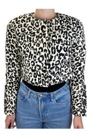 beskåret jakke med leopardmønster