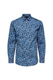 Selected Homme Slim Pen Blue Shirt Federal