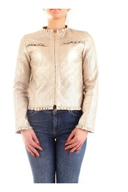 FRACOMINA FR20SP741 Leather jackets Women GOLD
