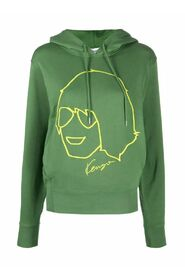 Graphic-print pullover hoodie