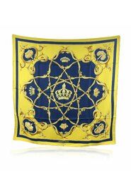 Pre-owned  Silk Scarf Couronnes Crowns 1969 Abadie