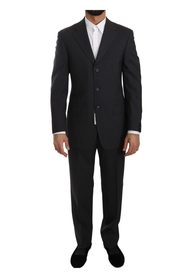 Striped Two Piece 3 Button Wool Comfort Suit