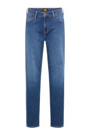 Marion straight mid worn denim jeans