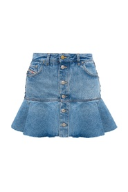 Two-layered denim skirt