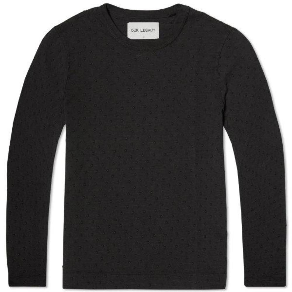 Long Sleeve Tee Overdyed Jacquard Dot