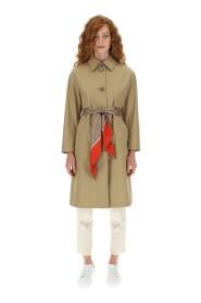 Woven raincoat