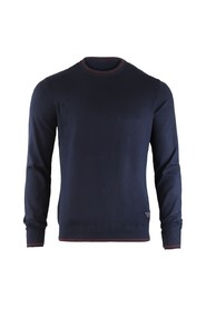 Crew Neck Knitwear with Contrasting Edges